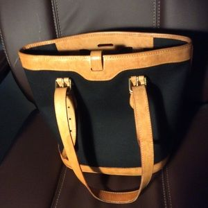 Dooney & Bourke leather and canvas tote